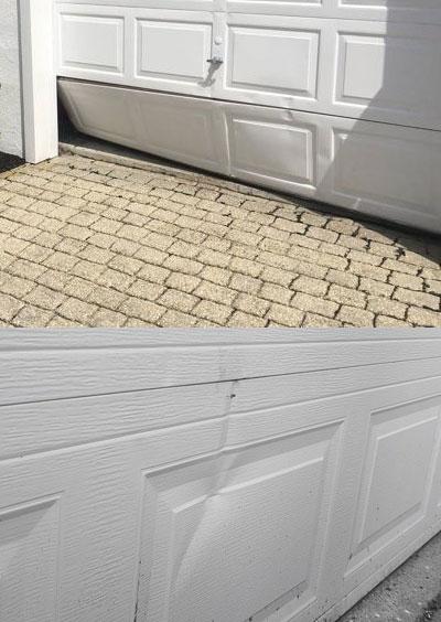 garage door panel damages